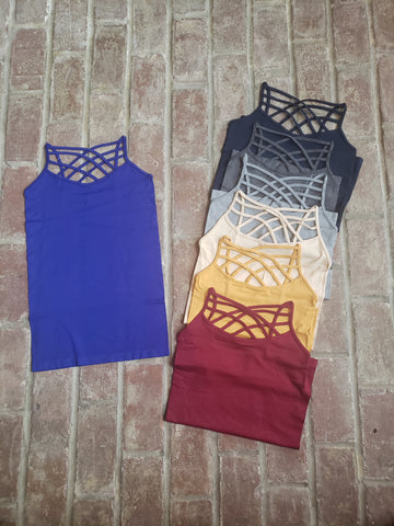 Triple Cross Cami (7 colors)