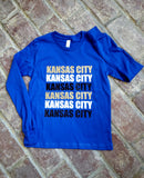 Kansas City Long Sleeve KIDS BLUE