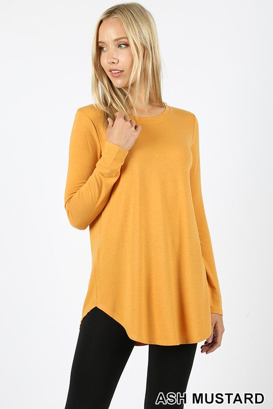 Basic Long Sleeved Tee MUSTARD