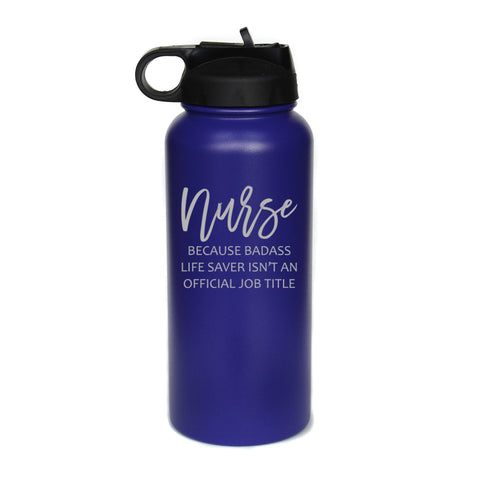 Engraved Nurse Tumbler