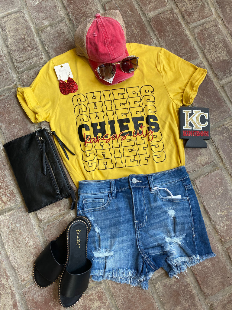 Kc Chiefs Tee in yellow