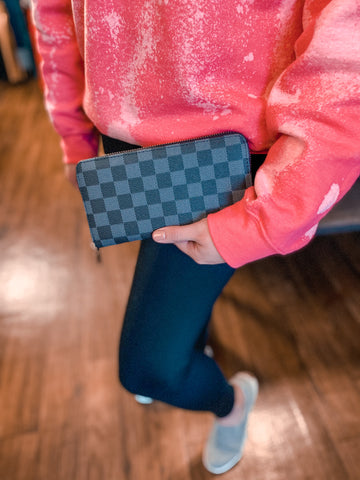 Black Checkered Wallet