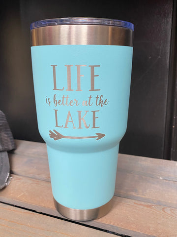 Lake Life Stainless Steel Tumbler
