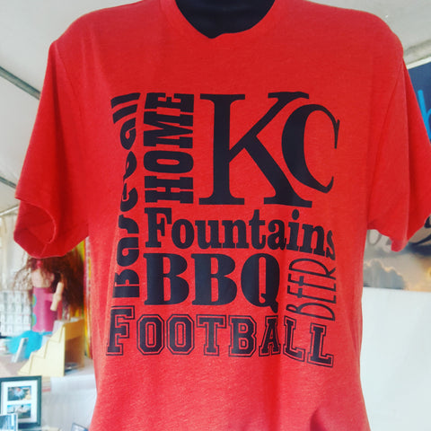 KC Home Tee Red