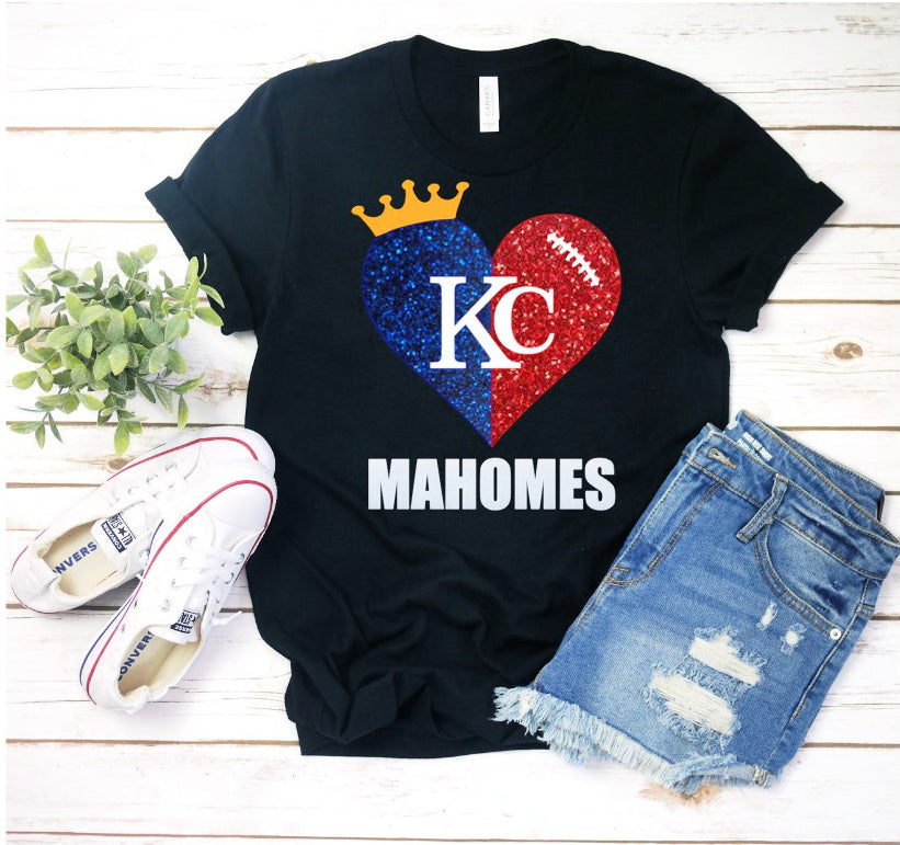Mahomes Heart Black