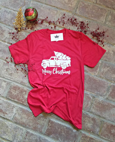 Merry Christmas Tee Red