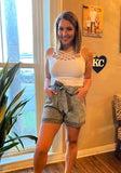 Paper Bag Shorts Taupe