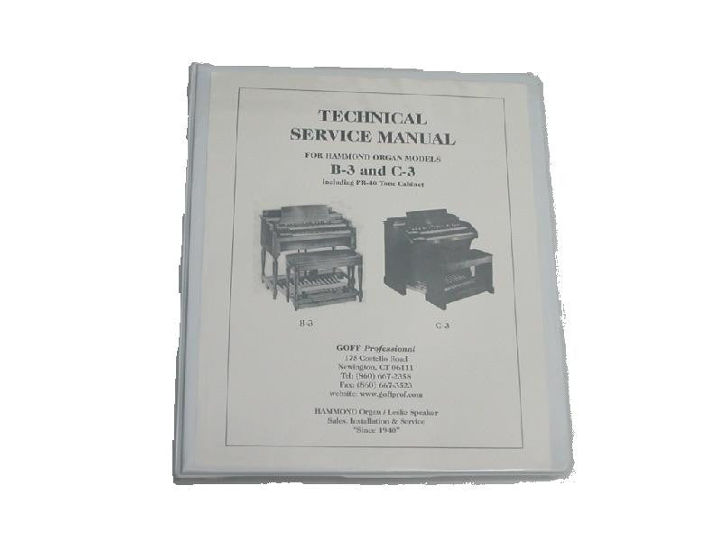 HAMMOND B-3 / C-3 Technical Service Manual