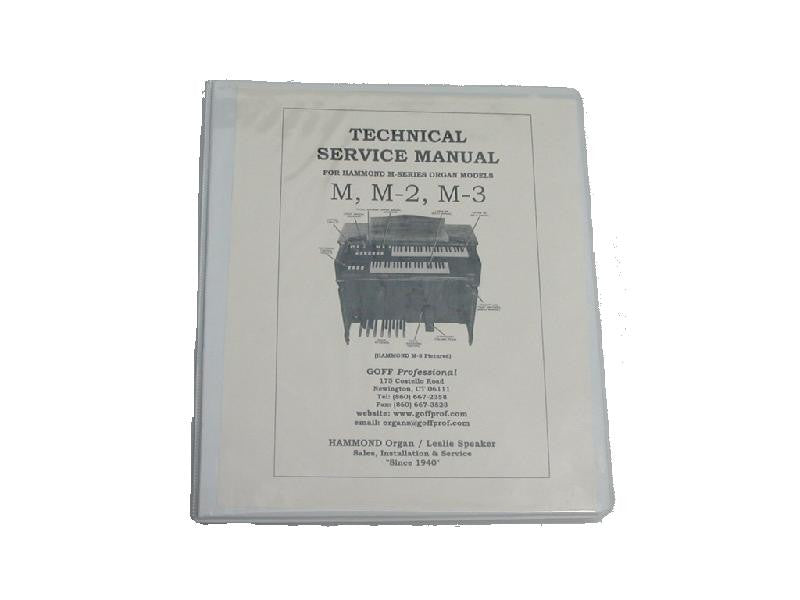 Hammond M Series Service Manual