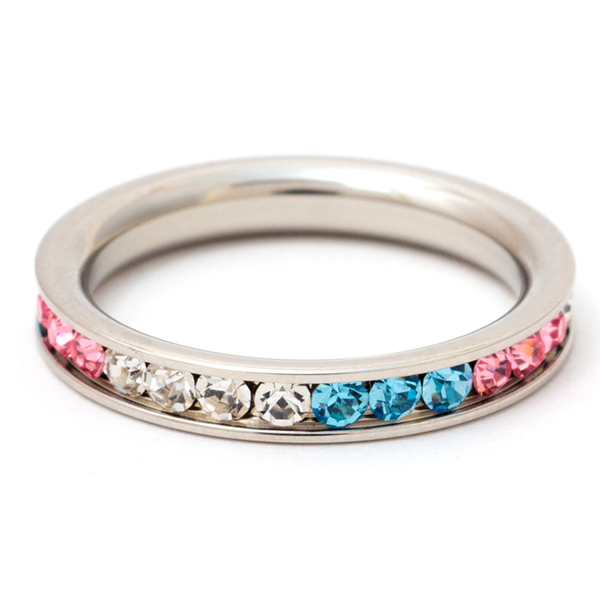 Multi Color Stream Band Ring