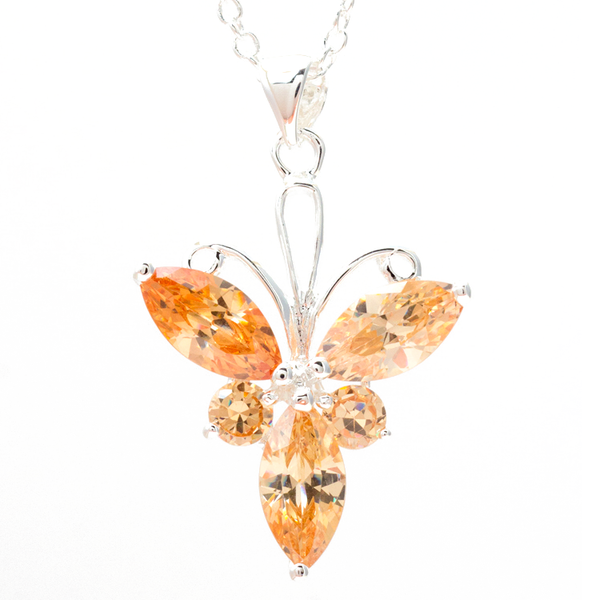 Fiery Yellow Tri Petal Pendant