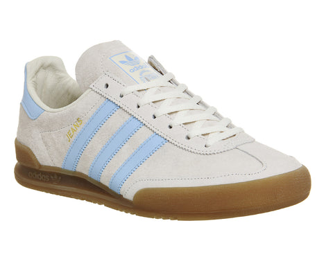 Adidas Jeans Chalk White Clear Gum  ||  (Size Men Complete)