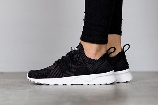 newest aacf9 72881 Adidas ZX Flux ADV Virtue Primeknit Shoes - Black (Size 40)