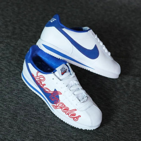 Nike Cortez 72 White Blue Los Angeles