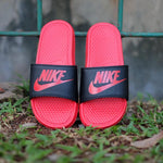 NIKE SANDAL Benassi Swosh Logo Black Red