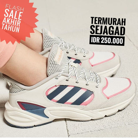 Adidas Valasion 90s Grey Navy Pink  - (Size Women Complete)