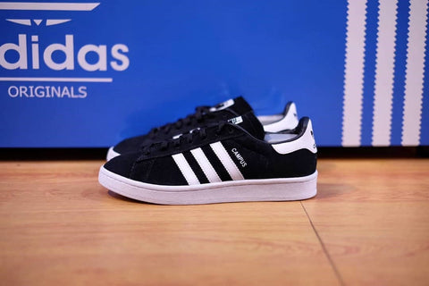 ADIDAS CAMPUS BLACK WHITE ( 40 SAMPAI 44 )