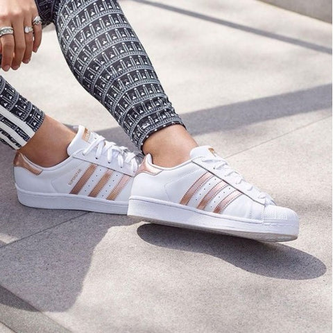 Adidas NEO ADVANTAGE White Rose gold
