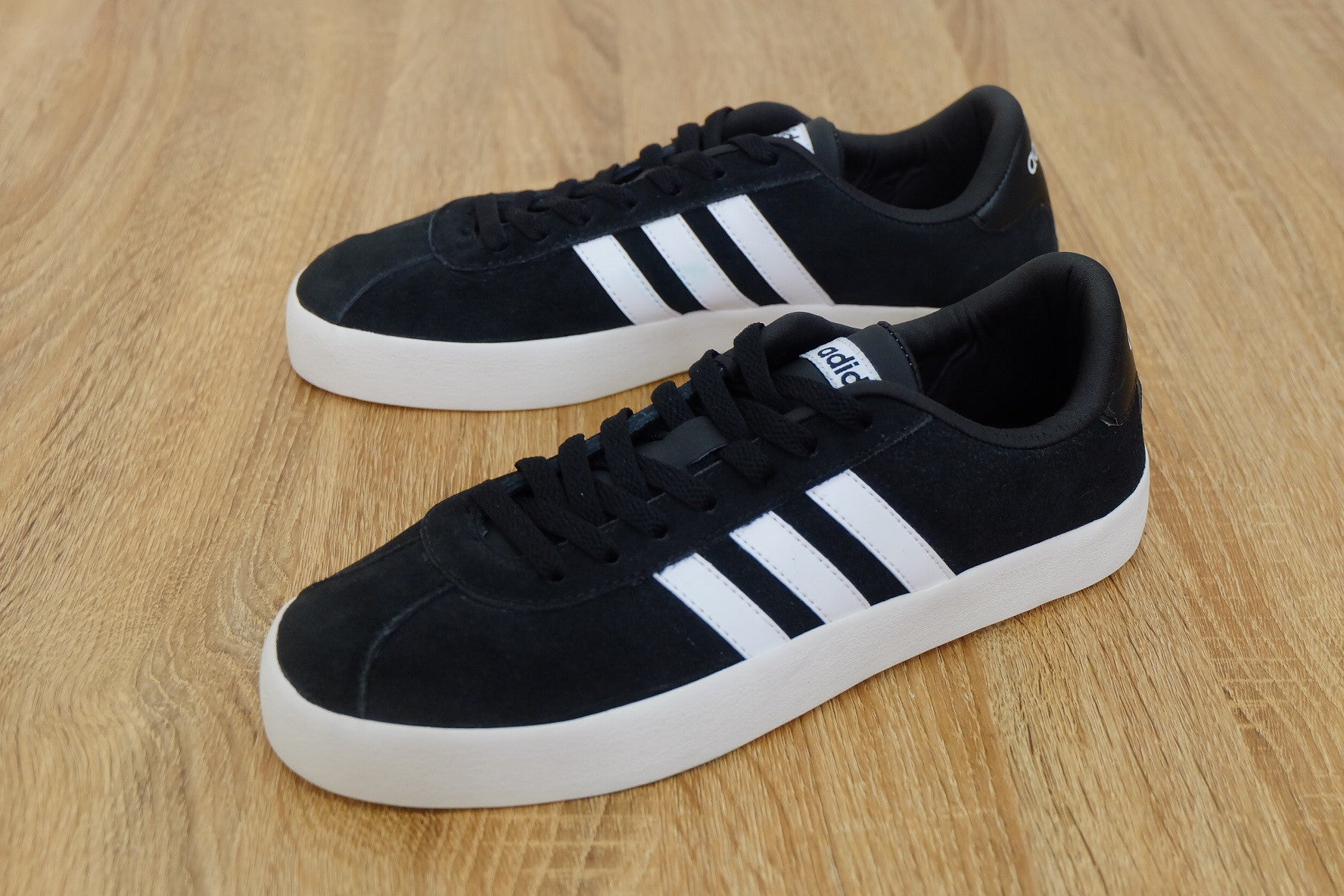 the best attitude 095a4 a8a56 ... low price adidas neo court vl black white suede size men complete 6d19e  fa516