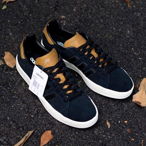 Adidas CAMPUS Black Tounge Brown