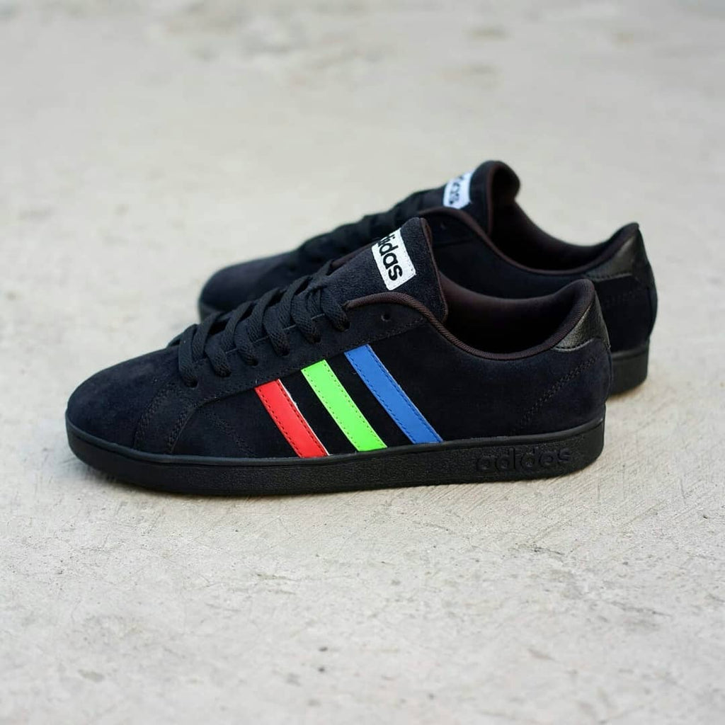Adidas Neo Baseline Black Multicolour Suede BNWB - Size Complete ... 43b4ce0f8