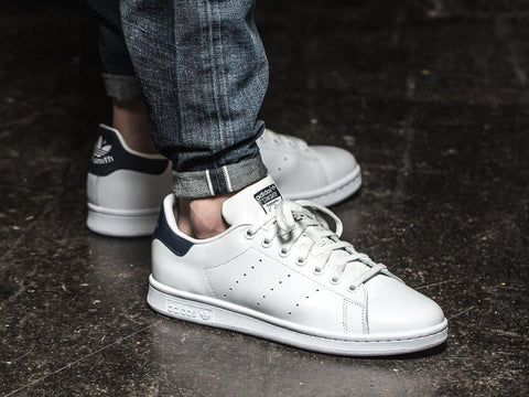 Adidas  Stan Smith Classic White Navy - (40, 41 1/3, 42, 43 1/3, 44 44 2/3, 45 1/3)