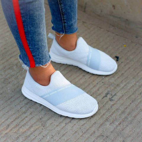 Adidas Slip on Refine Blue Ice || (Size Women Complete)