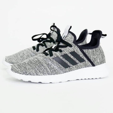 Adidas Cloudfoam Pure Lite Chalk Grey Strip Black ||  (Size Men Complete)