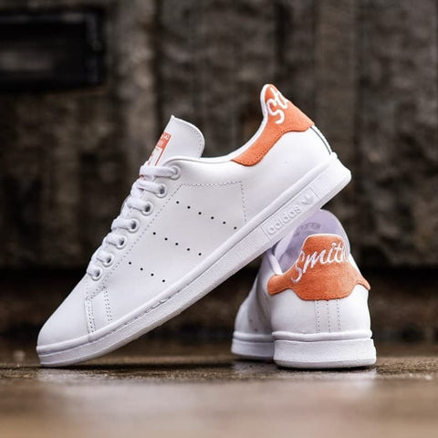 adidas stan smith script orange