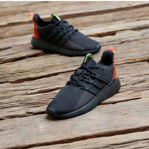 Adidas Questar Flow All Black Orange