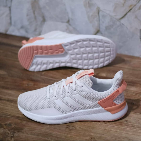 Adidas Questar Ride All White Peach