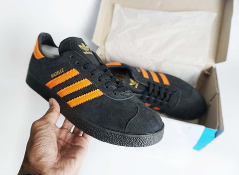Adidas Gazelle Black Orange (BNWB)