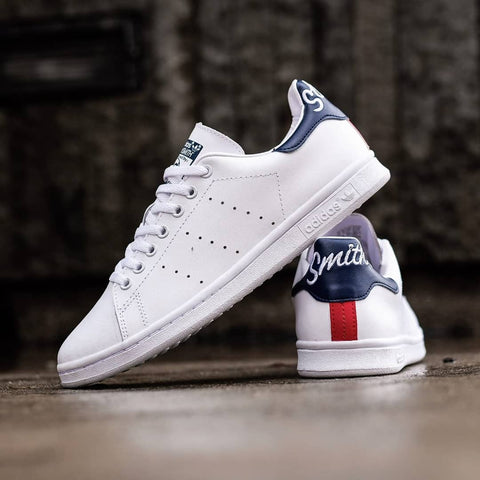 Adidas STAN SMITH Script White Navy Red