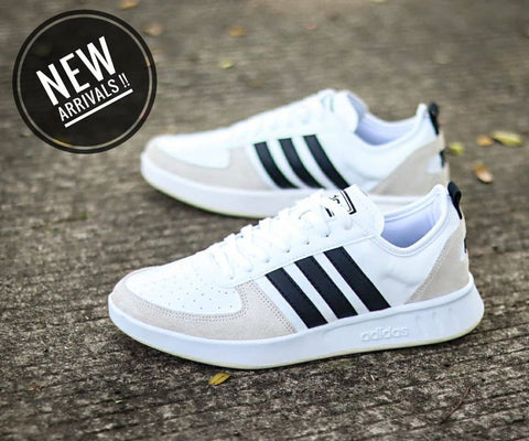 Adidas Court 80s White Black (BNIB)