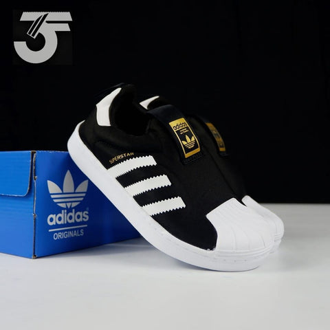 Adidas superstar slip on black classic