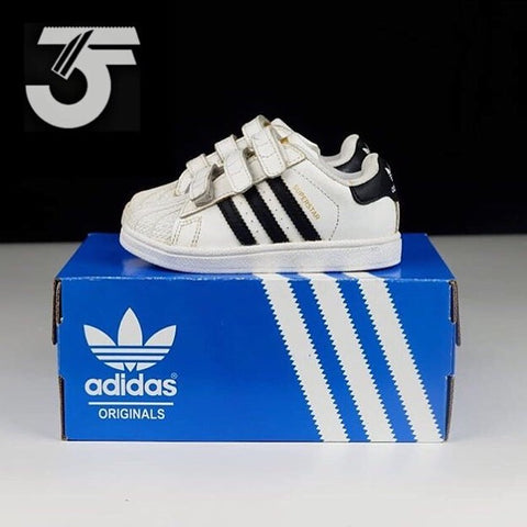 Adidas Superstar Strap Kids White Black (BNWB)
