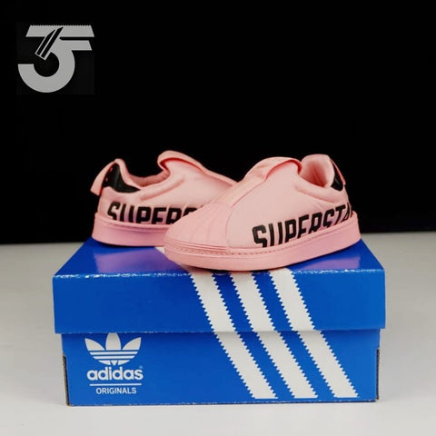 Adidas Superstar Kids Slip on Peach Emboss (BNWB)