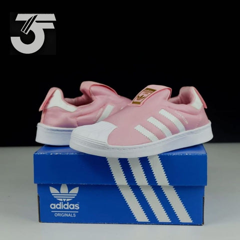 Adidas Superstar Kids Slip on Classic Pink (BNWB)