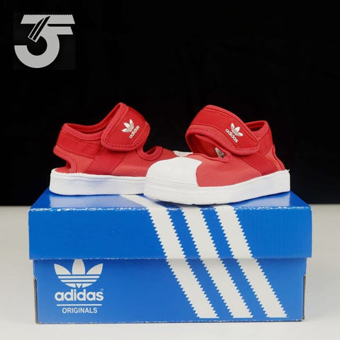 Adidas Superstar Kids Sandal Red (BNWB)