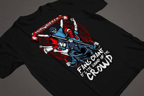 "Tees ""Sound of The Crowd"" Black ( size complete )"