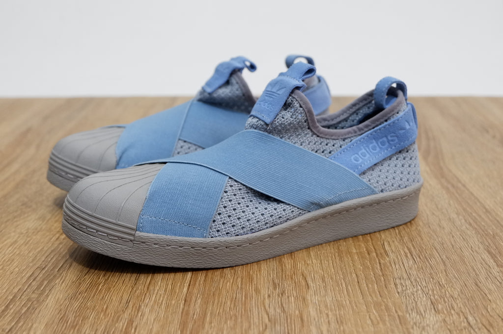 newest cab04 d65ab Adidas Superstar Slip On Sky Blue || (Size Women Complete)