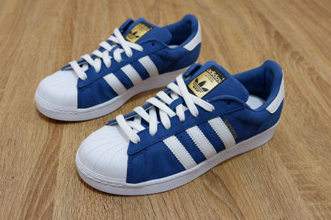 Adidas Superstar Fp Suede Classic Navy  ||  (Size Men Complete)