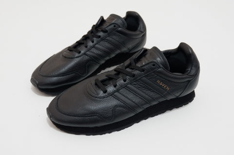 Adidas Haven Trainer Leather Triple Black   ||  (38, 38 2/3, 42, 42 2/3, 43 1/3, 44 2/3. ,45 1/3. 46. 47 1/3)