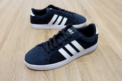 Adidas NEO Baseline Black White Suede  150d28996