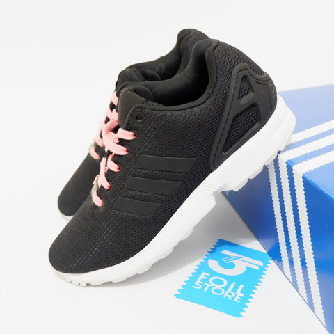 Adidas ZX Flux Black Pink Laces BNWB - 39 1/3 , 40