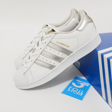 Adidas Superstar White Silver BNWB - 39 1/3 , 40 2/3