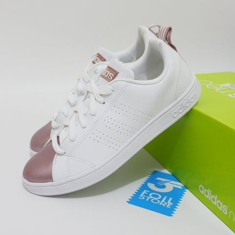 Adidas Neo Advantage White Rose Pink BNWB - 38 2/3 , 39 1/3