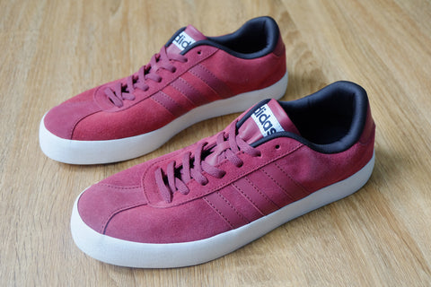 Adidas Court VL Fresh Burgundy  || (Size Men Complete)