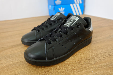 Adidas Stan Smith Black Silver - (36, 36 2/3)