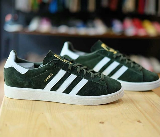 outlet sneakers pick up Adidas Campus Suede Green Jade BNWB - 40 2/3 , 41 1/3 , 42 , 42 2/3 , 43  1/3 , 44